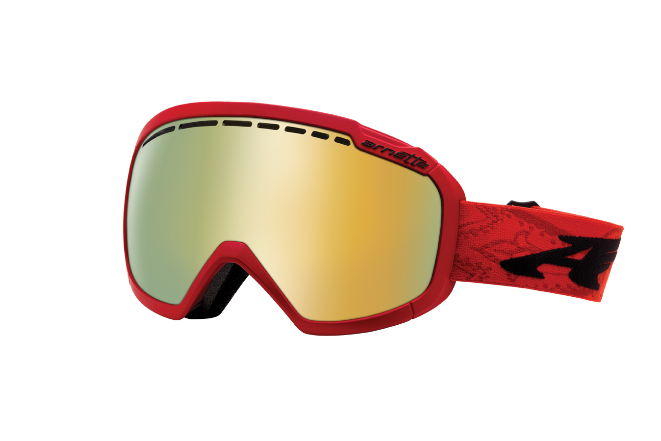 84c40a669367 Skylight: Arnette's newest and most cutting edge goggle, in a limited  edition red colourway with a gold chrome lens. It features Arnette's No-BS  (Blind ...