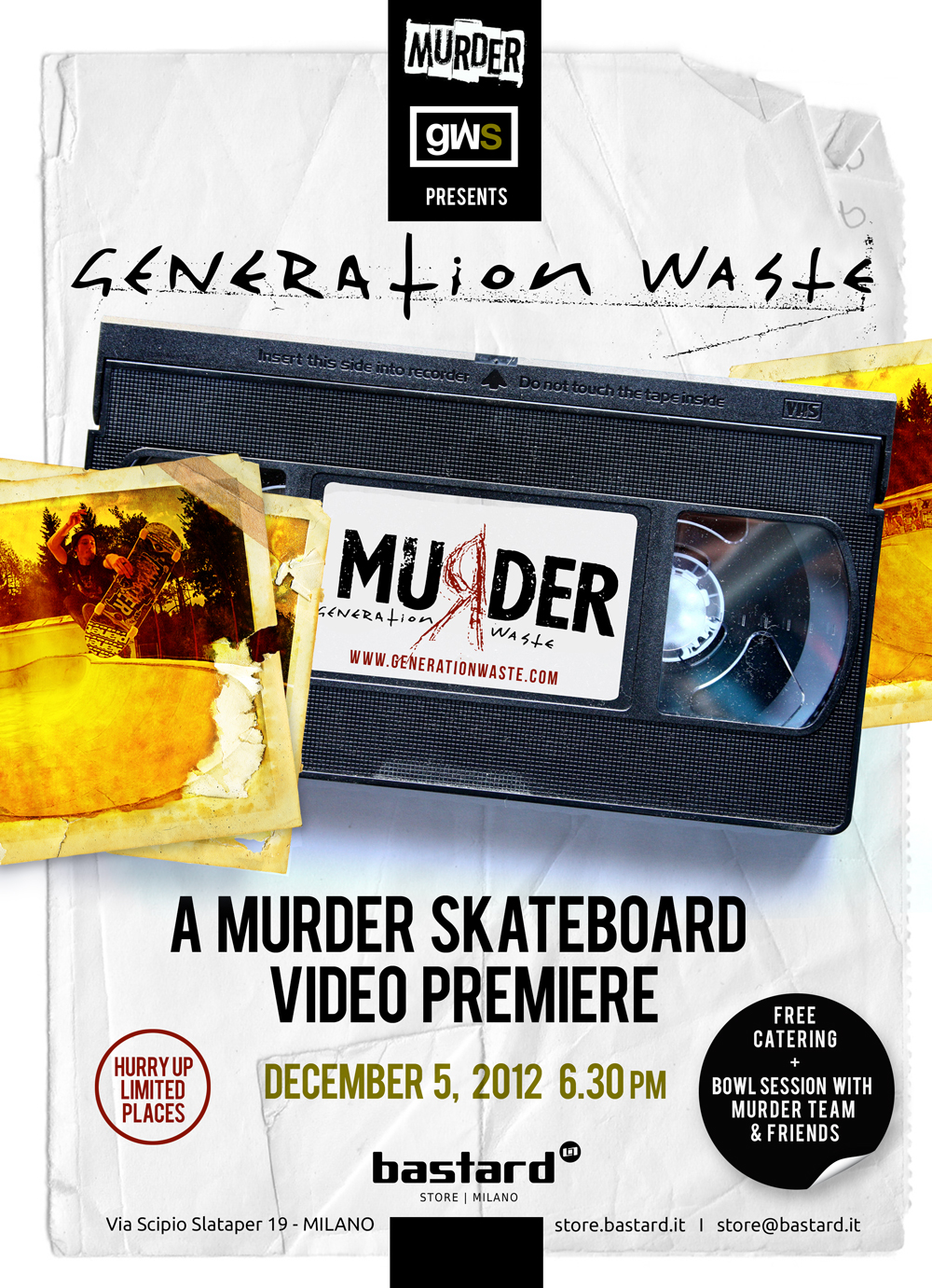 5 Dicembre 2012 Generation Waste Video Premiere