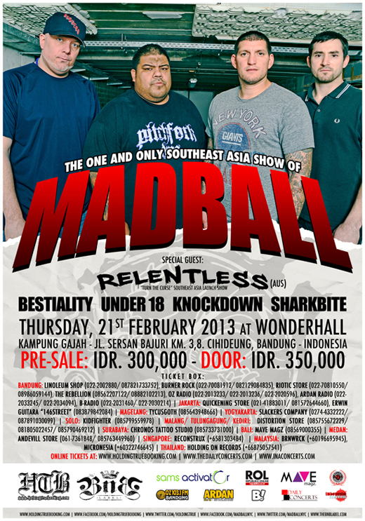 Madball (USA) Live in Bandung – Full line-up announcement