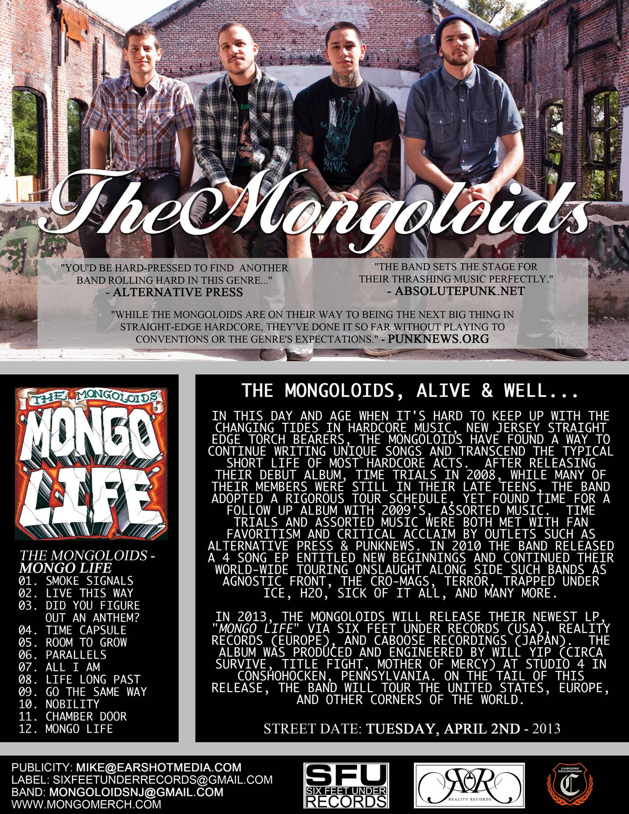 """NJ's The Mongoloids to release limited 7"""" single 'Room To Grow'"""