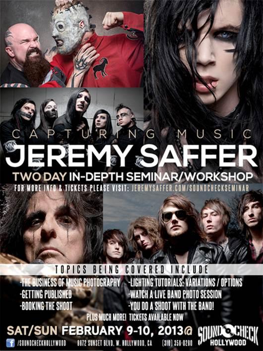 Rock photographer Jeremy Saffer …