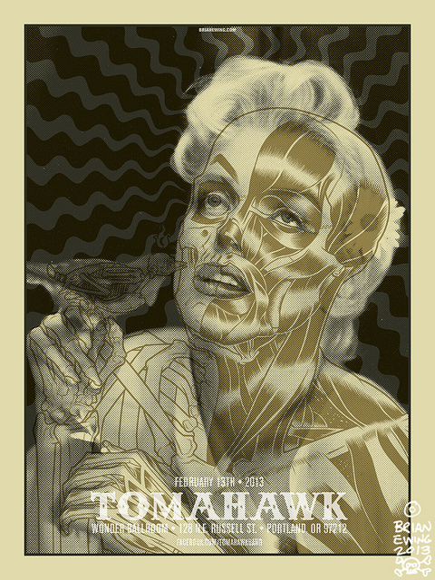 Mike Patton / Tomahawk Gig Poster by Brian Ewing