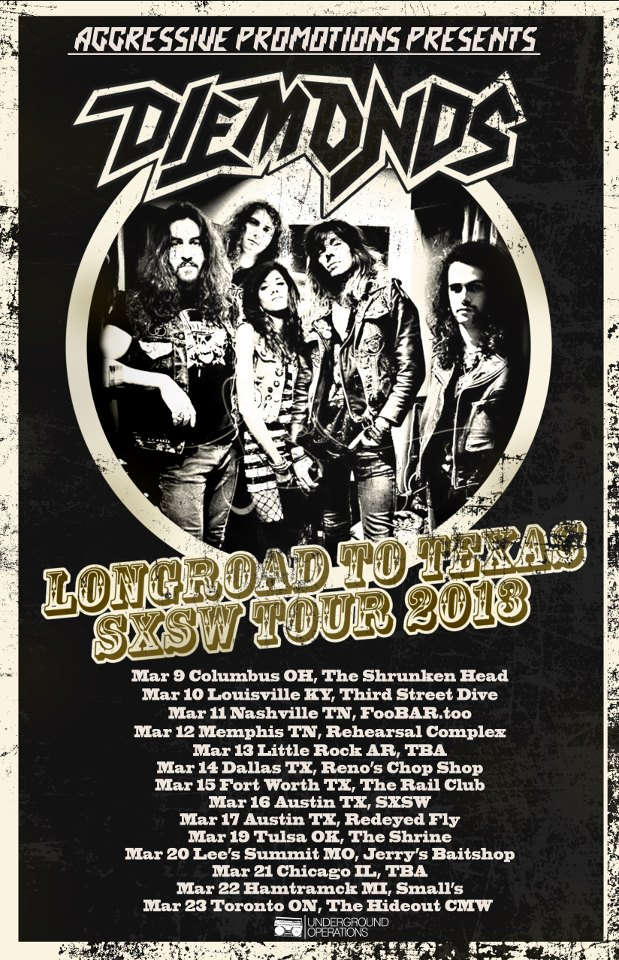 Diemonds announce Long Road to Texas Tour 2013