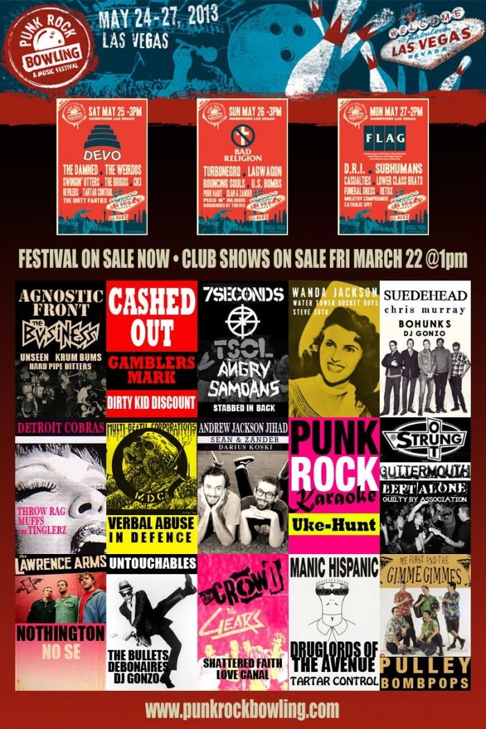 Punk Rock Bowling reveals 15 late night club shows…
