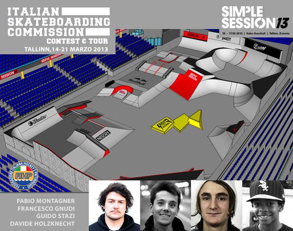Skaters italiani a Tallinn: la prima trasferta FIHP 2013