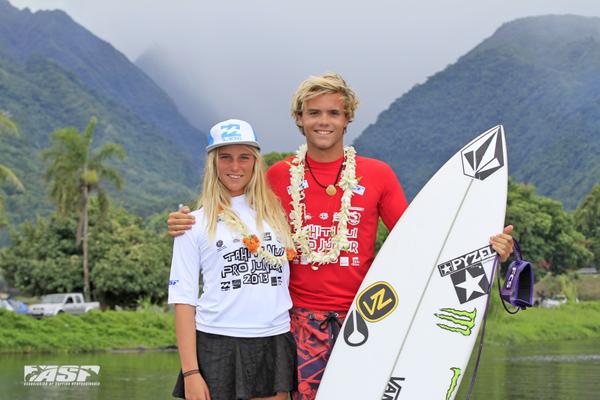 William Aliotti won the men's Tahiti Nui Pro Junior