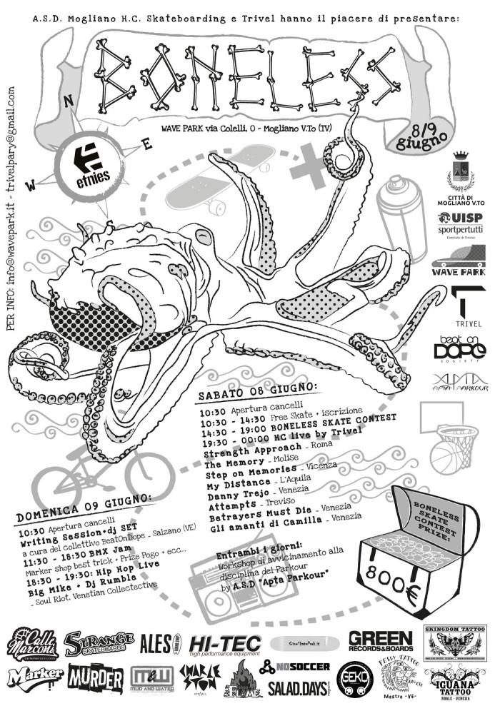 A.S.D. Mogliano H.C. Skateboarding e Trivel presentano Boneless 20