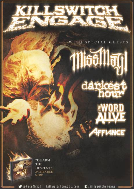 Miss May I direct support on upcoming Killswitch Engage Tour (May 30-July 8)