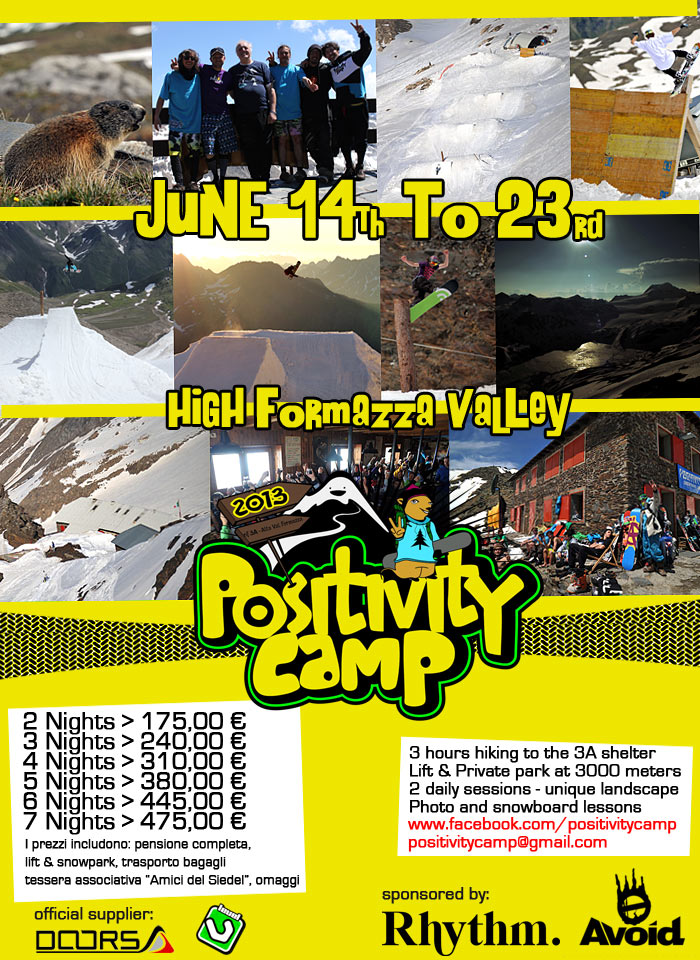 Positivity Snowboard Camp 2013