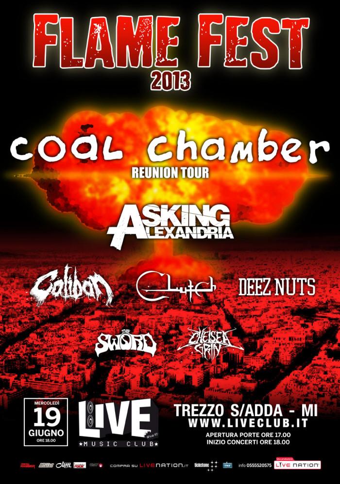 Flame Fest 2013! L'evento metalcore più atteso dell'anno torna per una data unica al Live Club di Trezzo