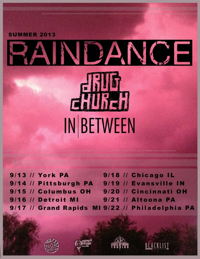 Raindance announce co-headline tour W/ Drug Church with support from In Between