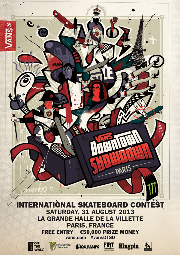 Vans Downtown Showdown 2013 // Team Announcement & More // Paris, August 31st