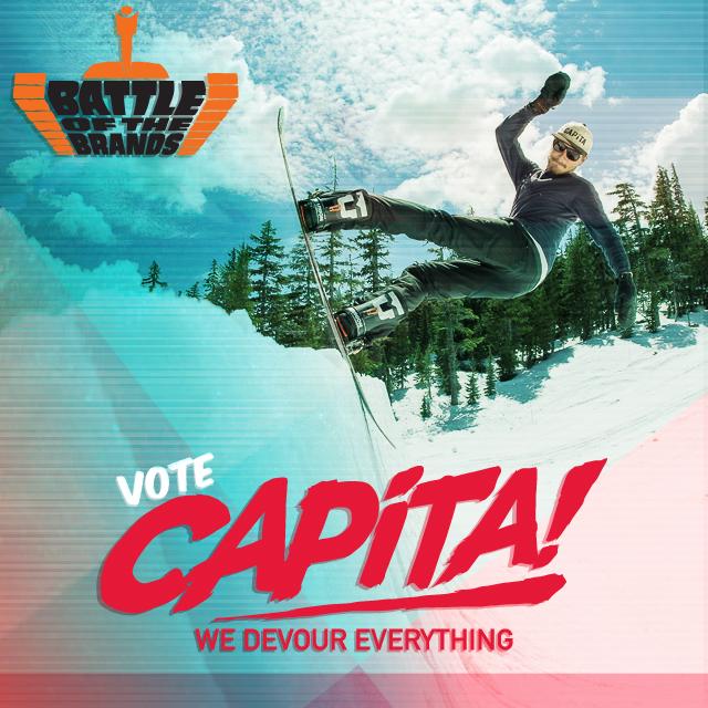 Vota CAPiTA per la Battle of the Brands 2013