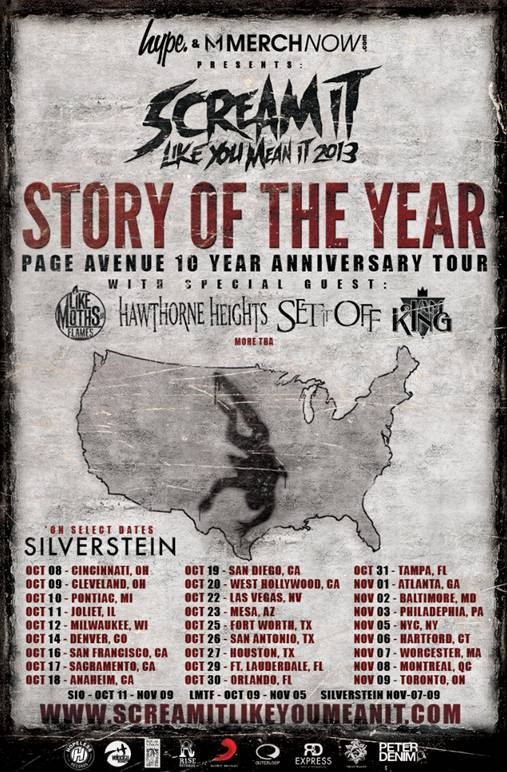 Story Of The Year to headline the 2013 Scream It Like You Mean It Tour