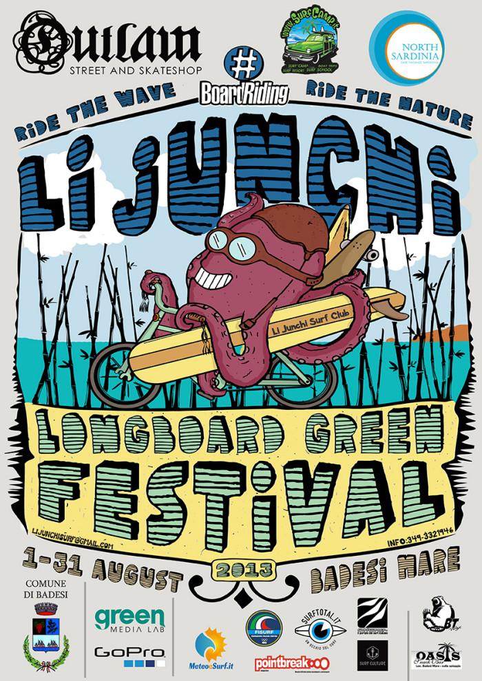 Li Junchi Longboard Green Festival: surf, skate, breaking, writing, music and more!!!