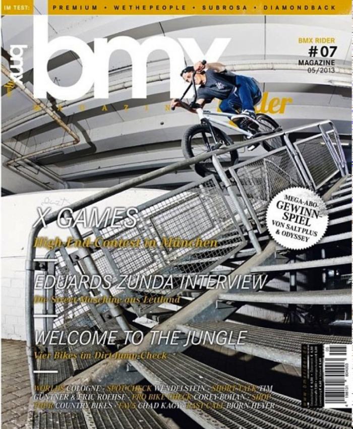 Vans rider Ed Zunda on BMXrider Mag!