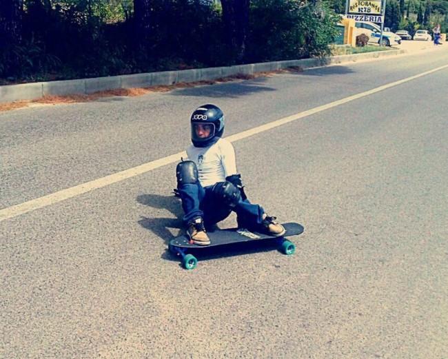 11 Li Junchi Longboard GREEN Festival 2013 Badesi surf skate longskate