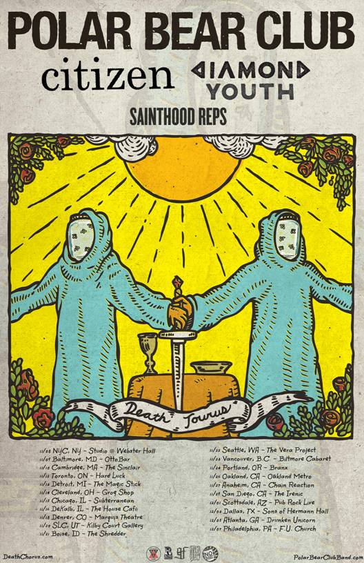 Polar Bear Club announce headline Tour with support from Citizen, Diamond Youth and Sainthood Reps