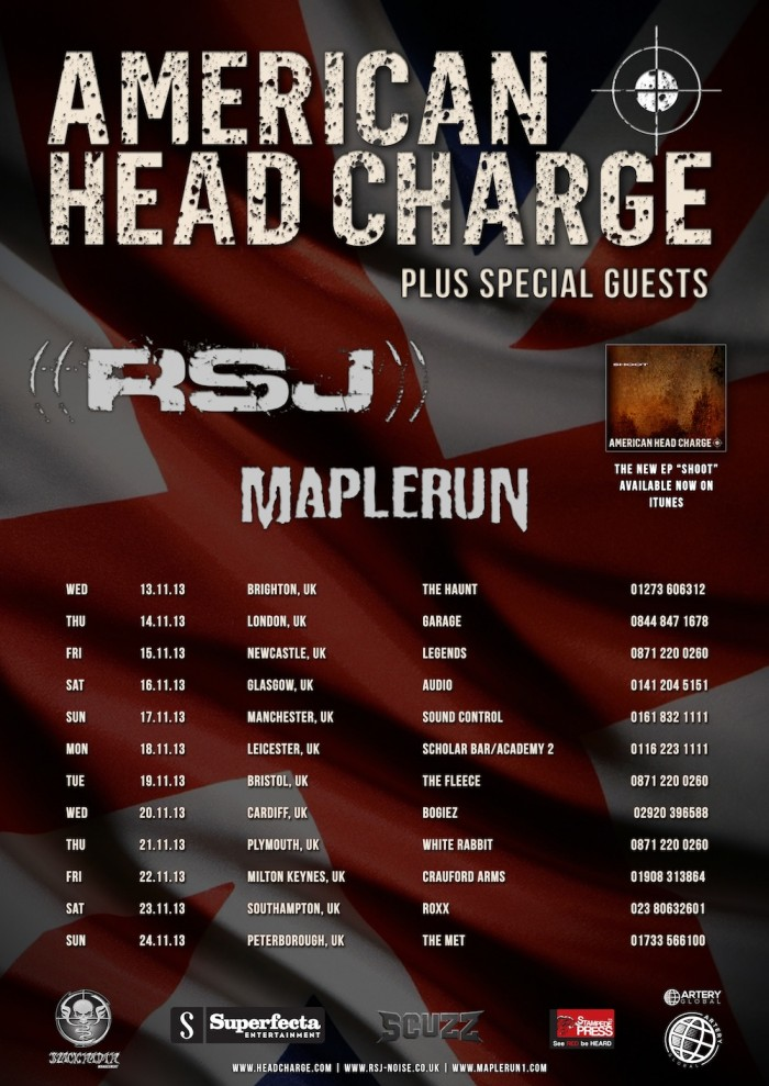 American Head Charge UK show dates