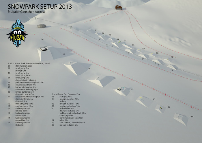 Stubai Prime Park Sessions | 21. Oktober – 17. November 2013 | Stubaier Gletscher