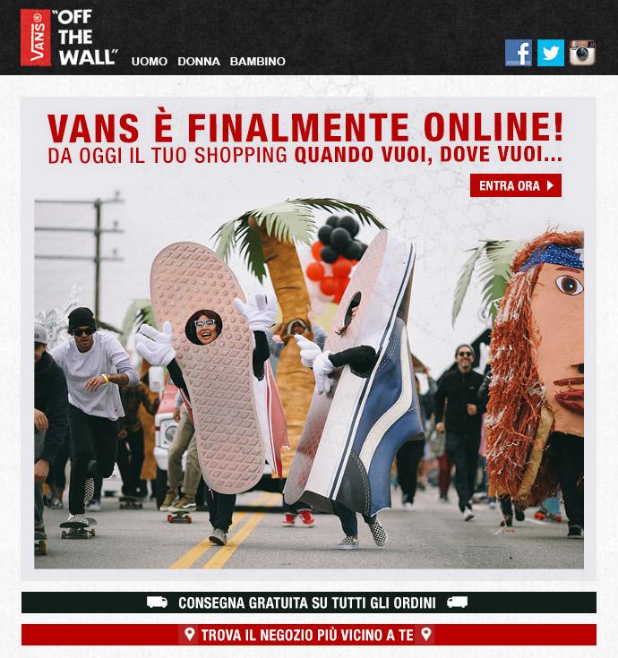 Shop.vans.it: online l'e-commerce italiano