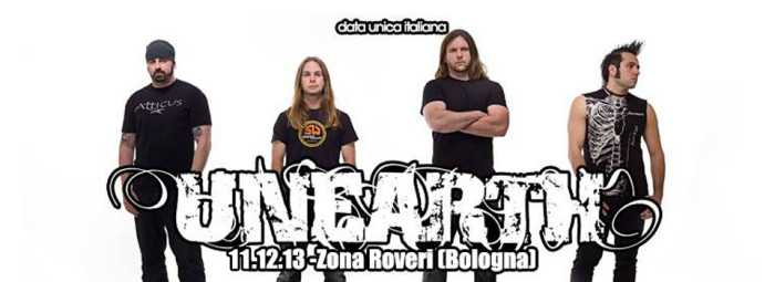Unearth: a dicembre a Bologna!!