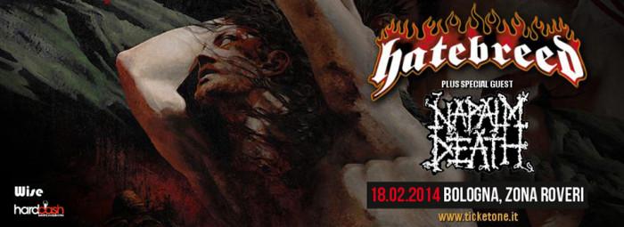Hatebreed + Napalm Death: a Bologna!!