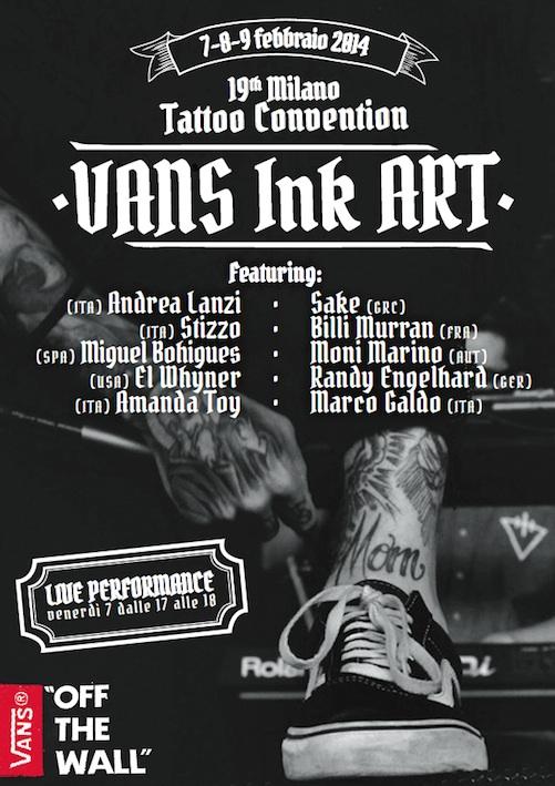 Vans Ink Art – La prima Slip-On tatuata alla Milano Tattoo Convention