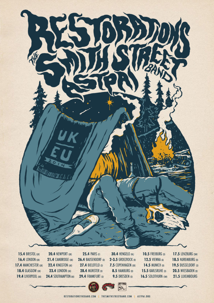 Restorations to tour Europe with The Smith Street Band and Astpai!