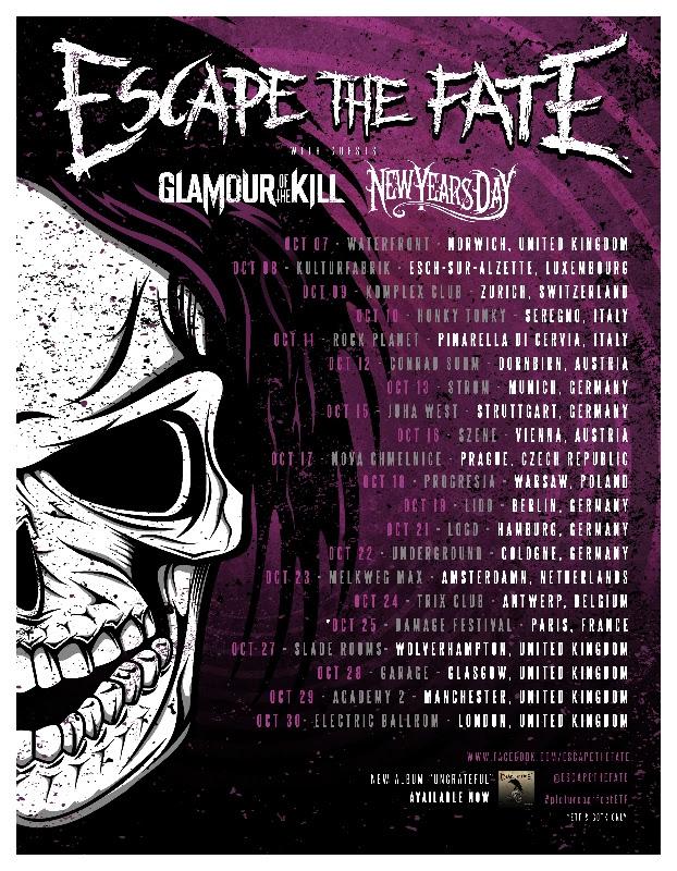 Escape The Fate – In Italia a ottobre per due date