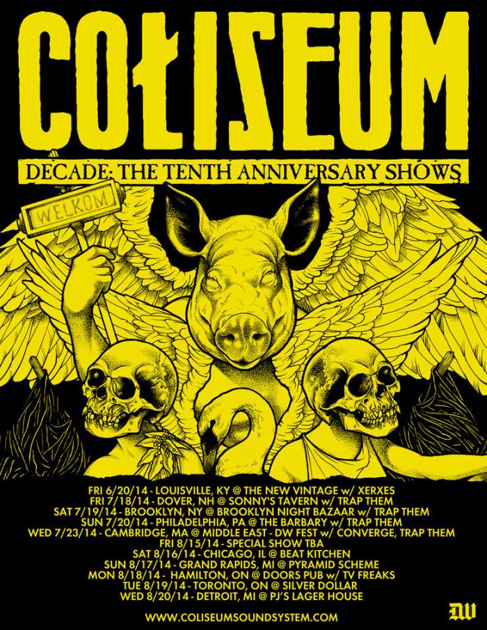 COLISEUM ANNOUNCES 10TH ANNIVERSARY TOUR DATES IN JUNE, JULY & AUGUST
