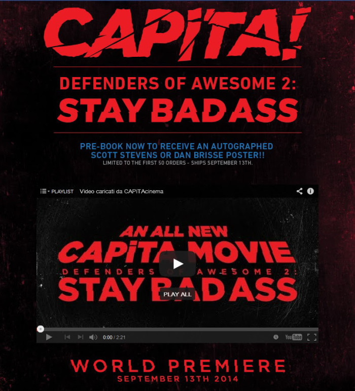 CAPiTA 'Defenders of Awesome 2 – Stay Bad Ass': teaser online