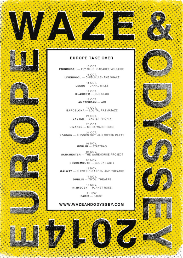 Waze & Odyssey announce US & European Tour Dates // September – November 2014