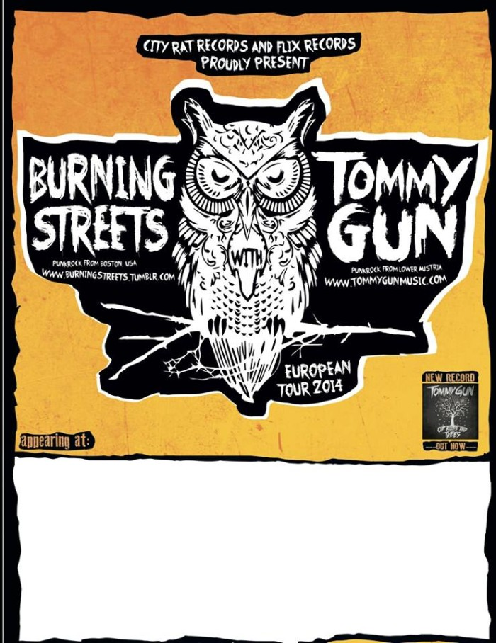 Burning Streets / Tommy Gun – Italy Tour
