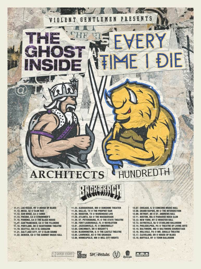 BACKTRACK CONFIRMED AS SUPPORT ON EVERY TIME I DIE / THE GHOST INSIDE TOUR IN NOVEMBER & DECEMBER IN THE U.S.