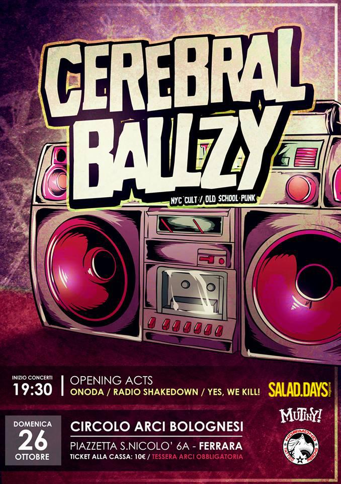 Cerebral Ballzy – Domenica 26 Ottobre al Circolo Arci Bolognesi, Ferrara
