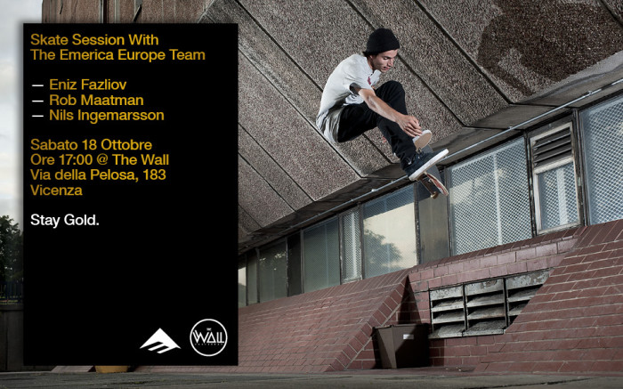 Skate session with The Emerica Europe Team / 18 Oct – The Wall