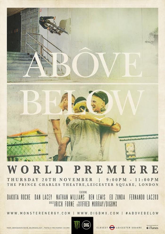 'Above Below': World premiere 20th November – London UK
