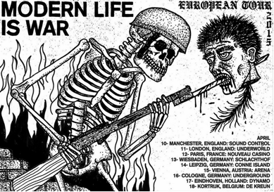 MODERN LIFE IS WAR ANNOUNCE UK & EUROPEAN TOUR IN APRIL 2015
