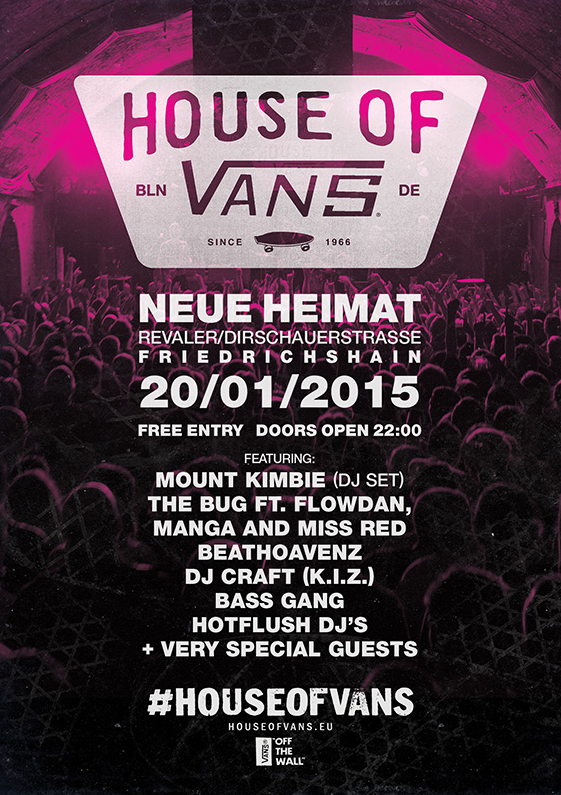 House of Vans returns to Berlin // Party + BESA// Jan. 20th