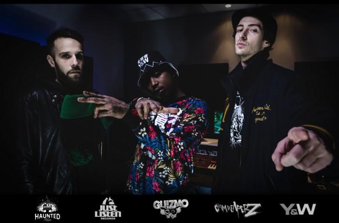 Guizmo & les Grim Reaperz au studio Just Listen Records!