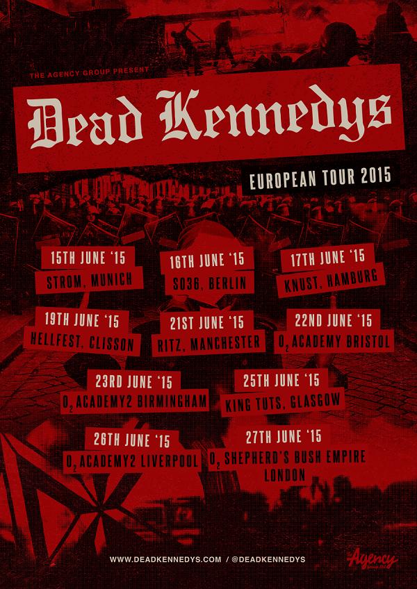 Dead Kennedys announce June 2015 EU headline tour