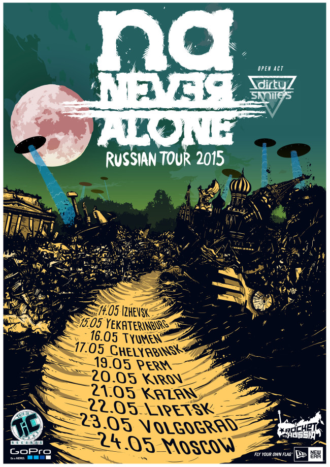 NEVERALONE Russian Tour 2015 - Tour Poster