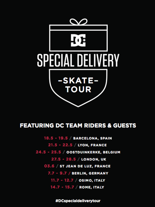 DC's Special Delivery European skate tour