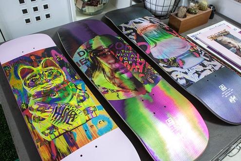 Globe X Nick Thomm limited edition skate decks