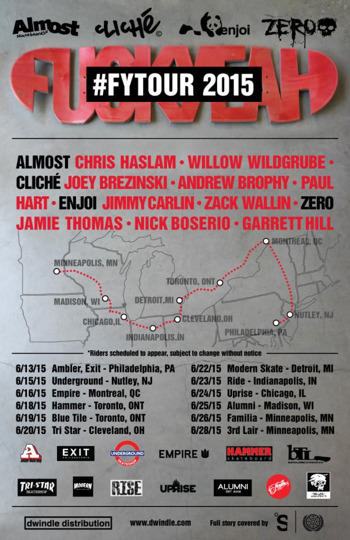 DWINDLE'S FUCK YEAH TOUR JUNE 2015