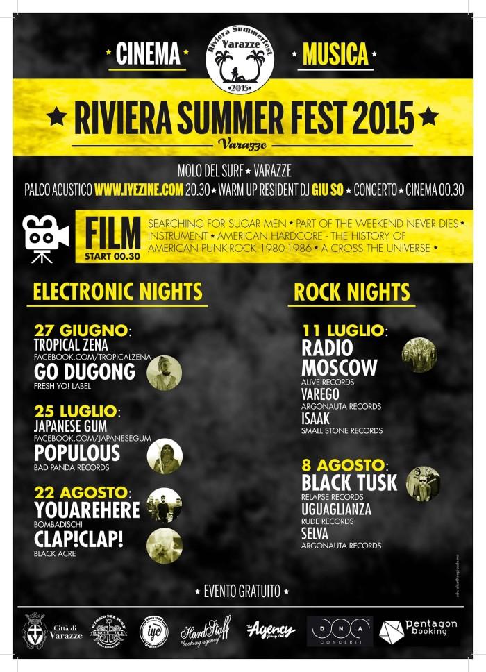 Riviera Summerfest Varazze 2015 // Musica-Cinema // Varazze