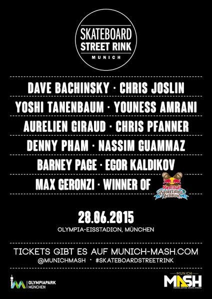 Skateboard Street Rink 2015 – Joslin, Bachinsky, Tanenbaum, Geronzi and Giraud confirmed