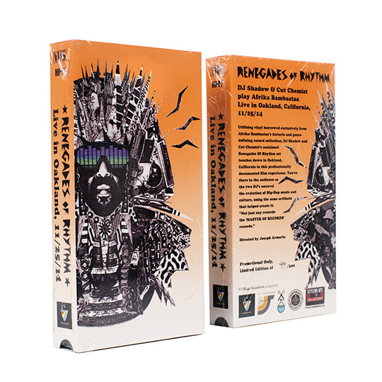 Dj Shadow now available on Limited Edition VHS: Renegades of Rhythm – Live in Oakland