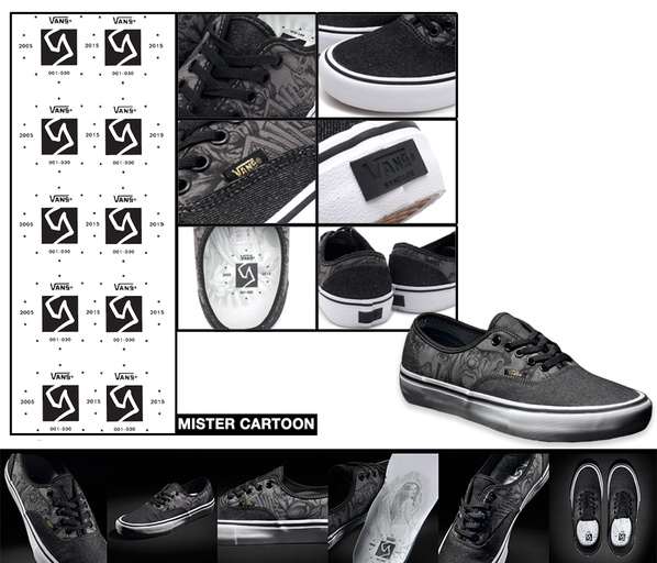 "629456c041 Vans X Syndicate Model  Mister Cartoon Authentic ""S"""